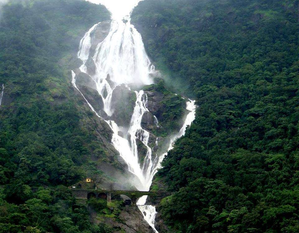 Dudhsagar Waterfall on the Goa-Karnataka Border, India.