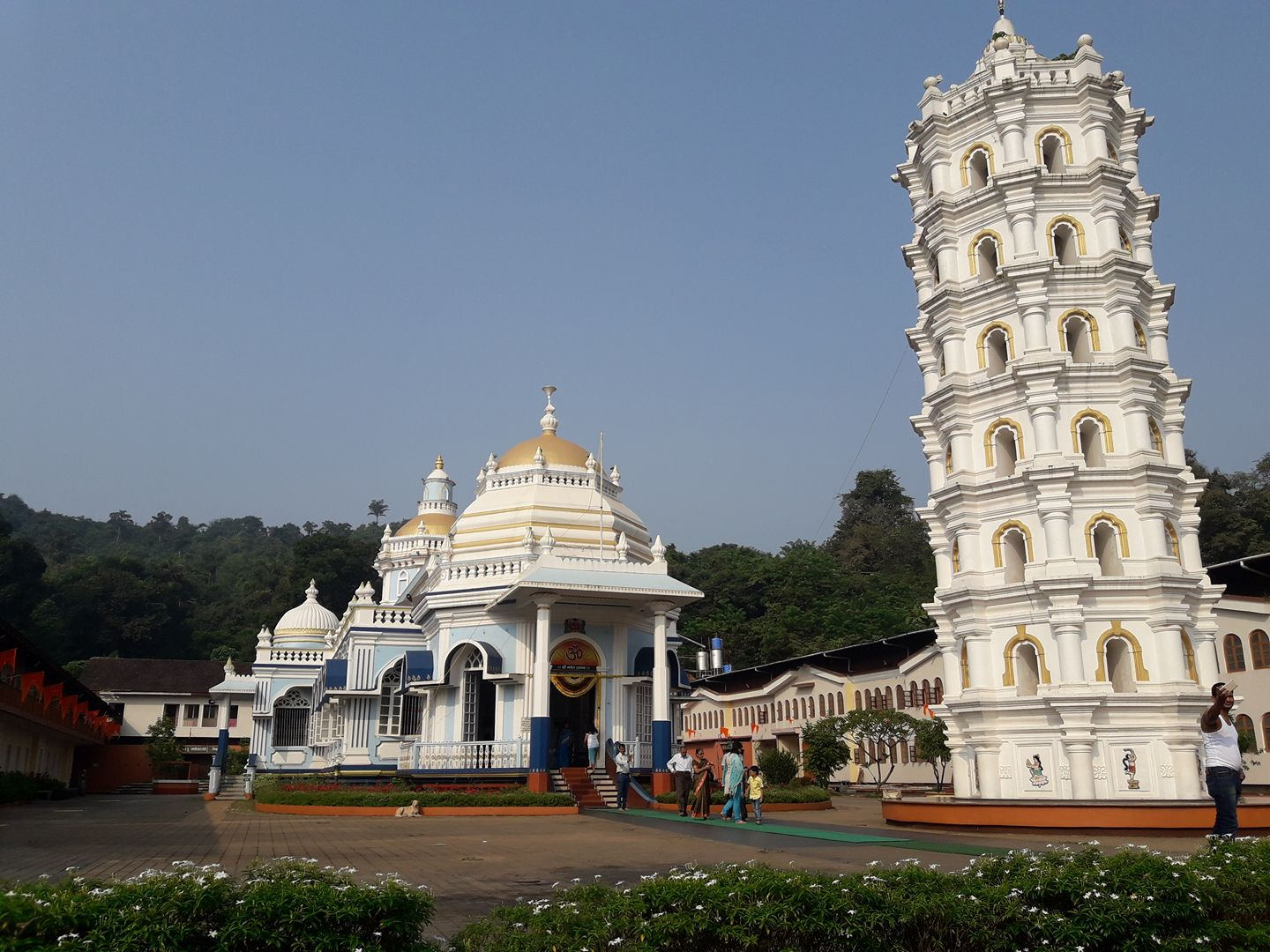 Mangeshi Temple with Tower - Goa