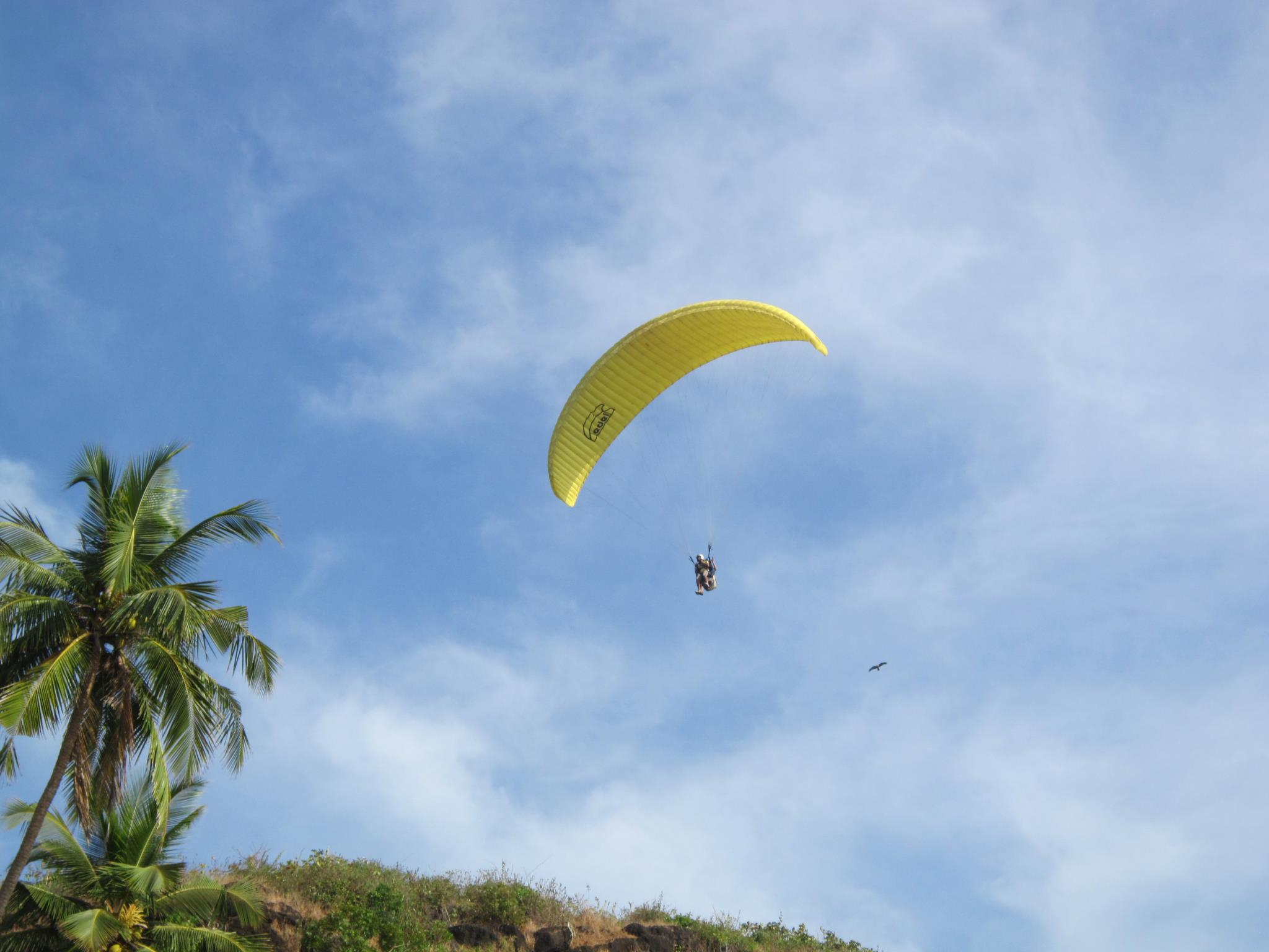 Paragliding at Colva Beach in Goa