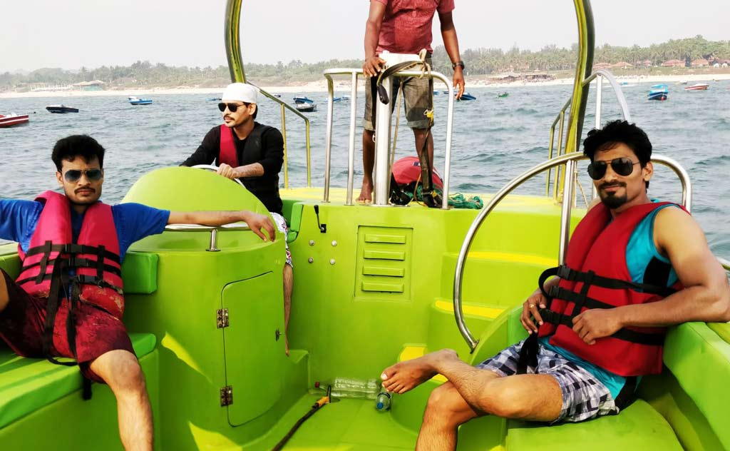 Speed Boating ride, Goa