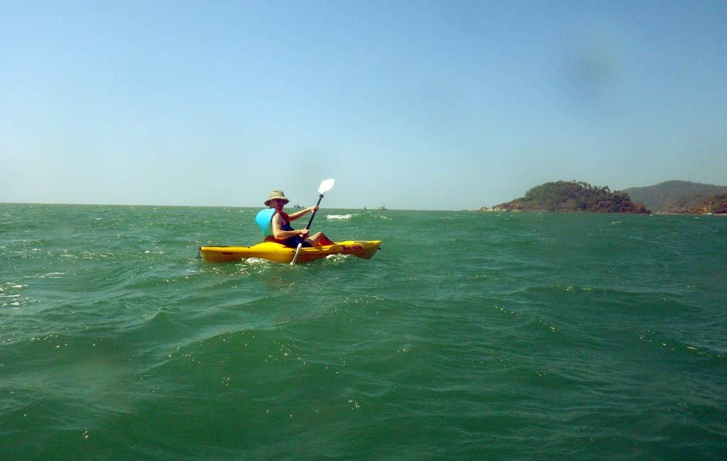kayaking at palolem beach