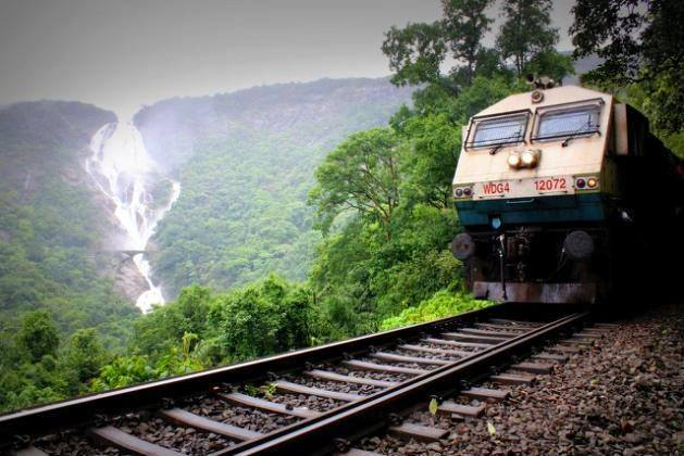 Dudhsagar Falls Rainy Season Monsoon goa