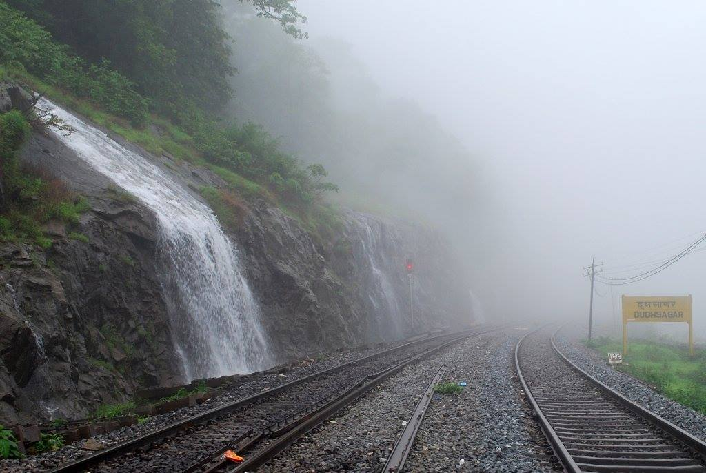 Dudhsagar Falls in Monsoon Goa